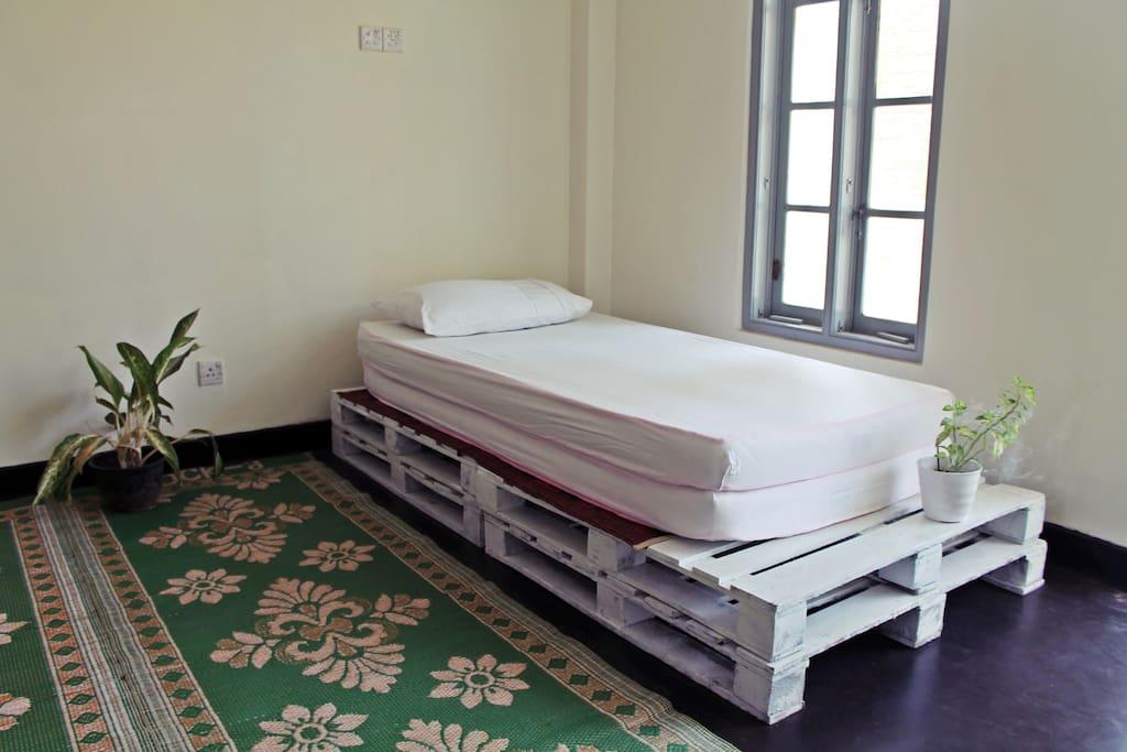 La Boheme hostel: One sharing bed