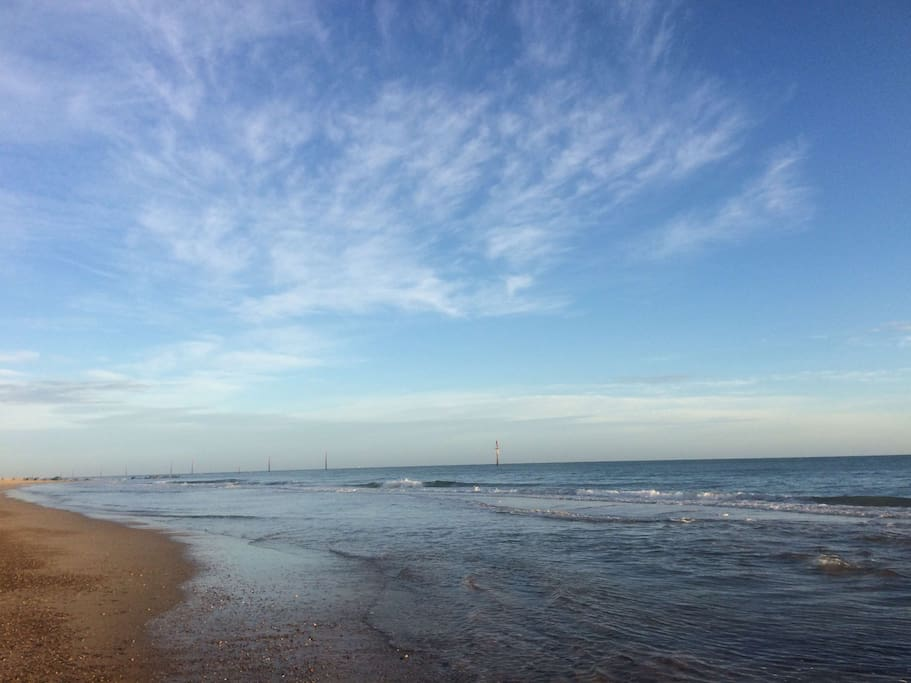 Sea Palling beach, just 30 seconds away