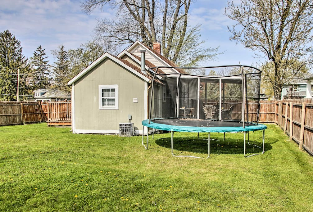 Spend time out in the home's wonderful fenced-in yard with a trampoline!
