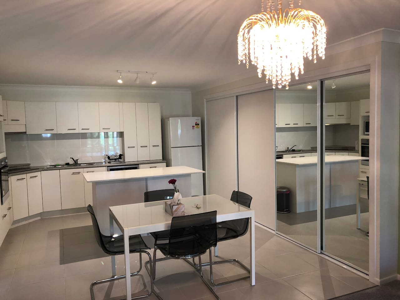 Enjoy a large,well equipped, kitchen with all new appliances!