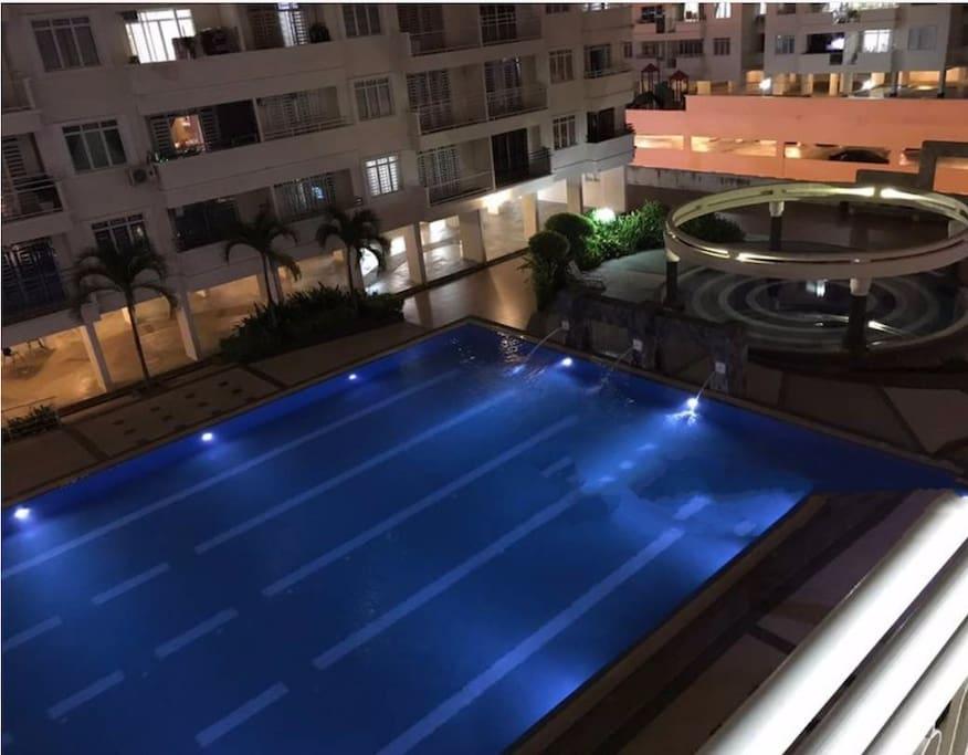 Pool - night time