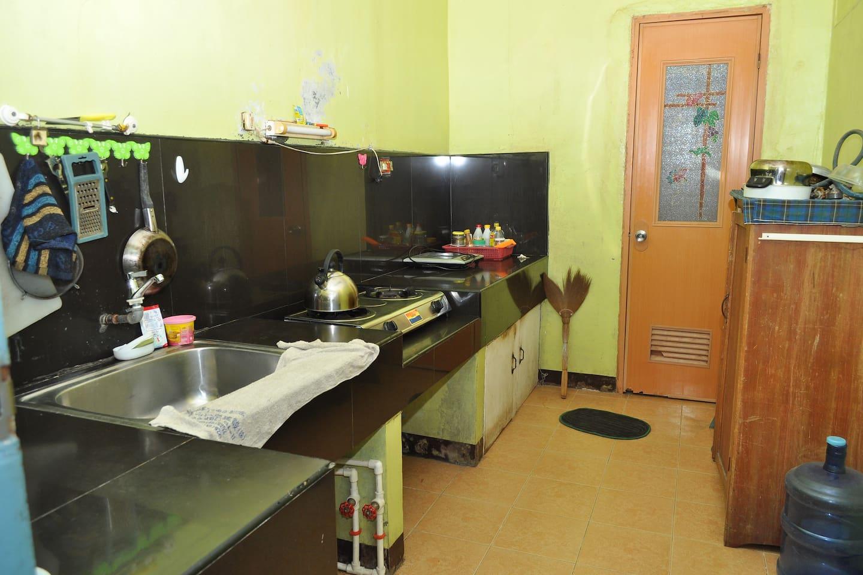 mini kitchen leading to the CR