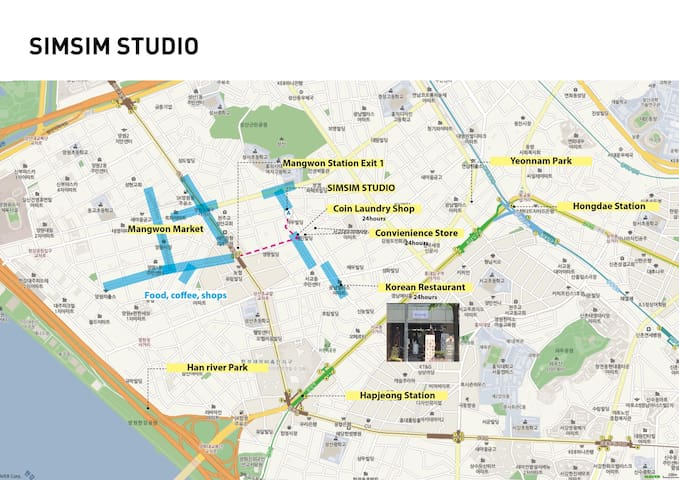 simsim studio (24-hour open and Wi-Fi and heating/cooling)