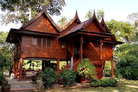Ban Thida Ruan Thai Rim Nam - Thai wooden house