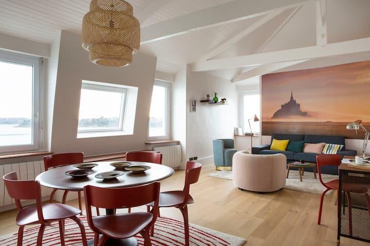Dinard, très bel appartement***** avec vue sur mer