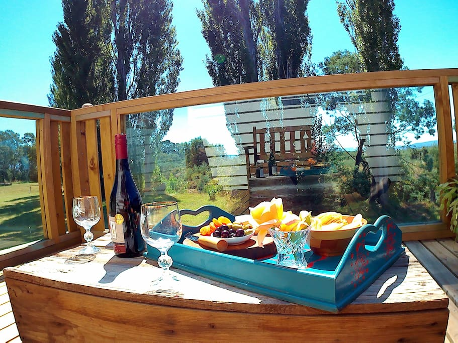Pick up a platter and a bottle of your favourite - relax on your deck..