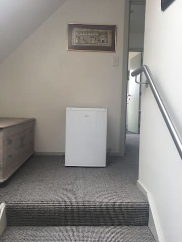 Second fridge on the stairwell