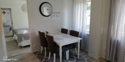 Furnished apartment with breakfast included
