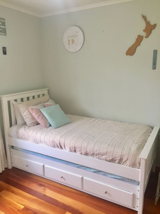 Bedroom 2 - Single Bed (Roll-Out Bed and Portacot available)