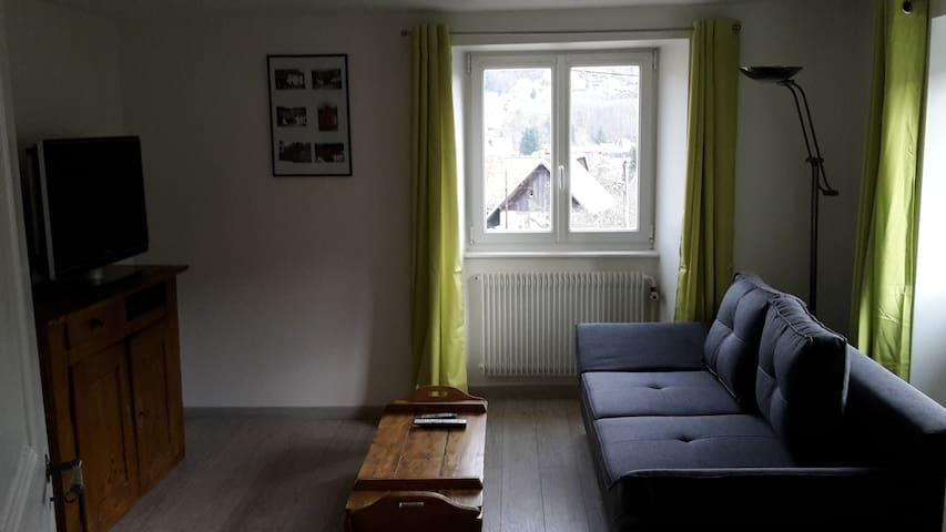 Appartement avec jardin en Alsace - Breitenbach-Haut-Rhin - Leilighet