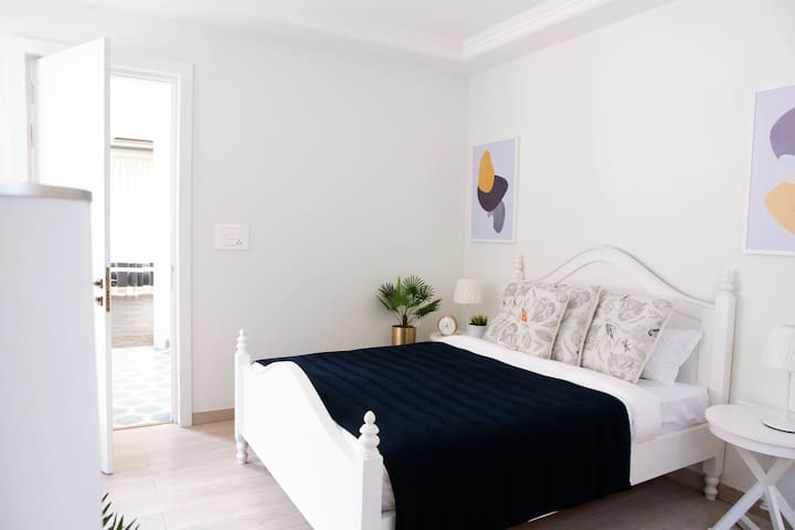 Minimalist Scandinavian Theme Bedroom with Ensuite Bathroom   Villa La Dolce Vita   Private Infinity Pool   Terrace Deck   Field Views   Fully Serviced