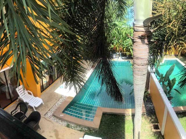 Pool villa 2,  3 bedroom just 8mins walk to beach