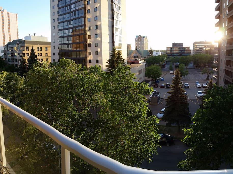 Summer city scenic from your balcony