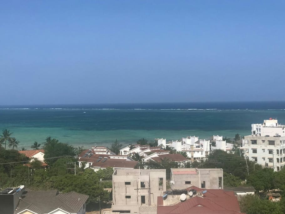 sea view from the apartment balcony