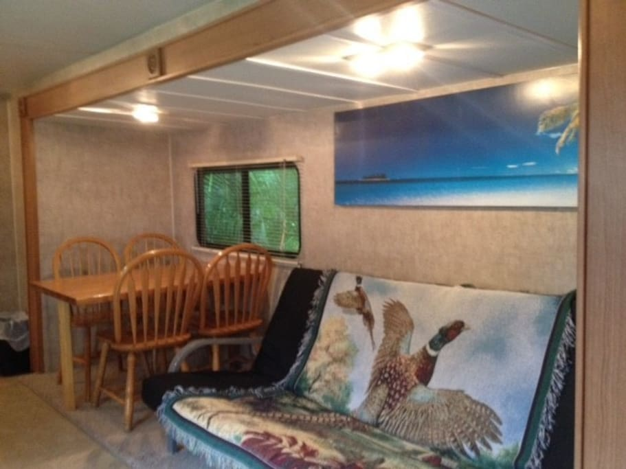 Dinning area in the RV