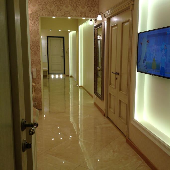 Corridor, entry door
