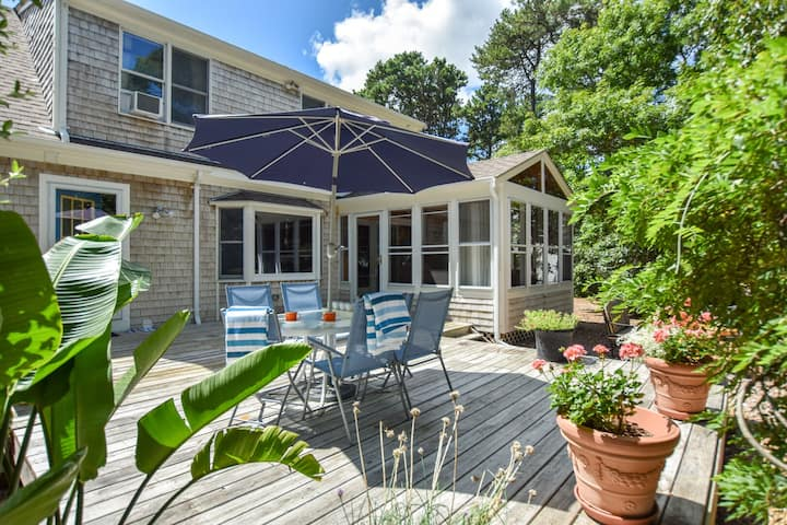 #439: Private Yard, Patio, Sunroom! 200 Yards from Cape Cod Rail Trail!