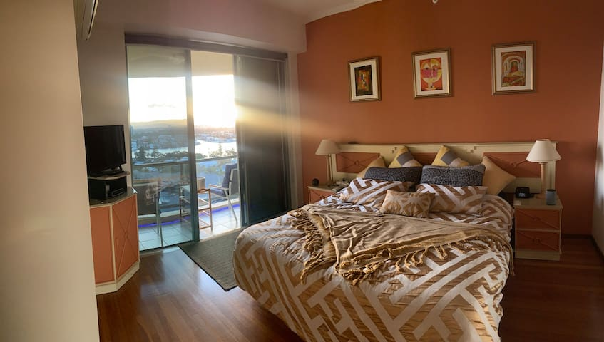 The Guest Bedroom and balcony