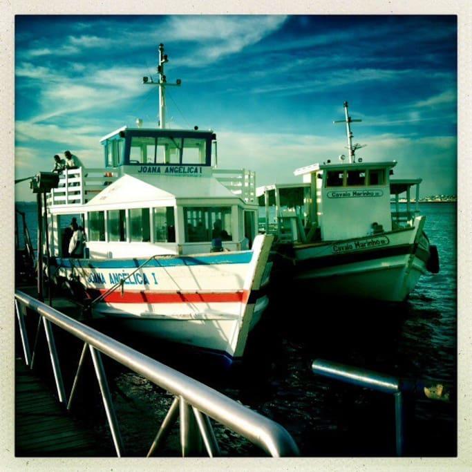 Arrival in Mar Grande from Salvador
