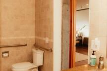 ADA compliant bathroom.