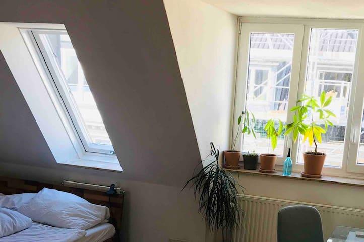 helles Dachgeschoss Zimmer in bester Lage