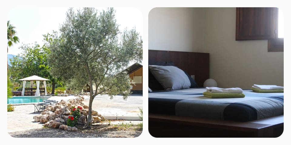Jardin room: Nice guest room in Andalusian Finca - Cártama - Hus