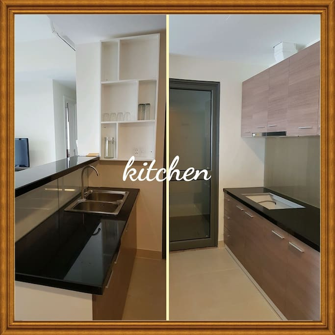 Fully Furnished Kitchen ; Fridge ; Washing Machine