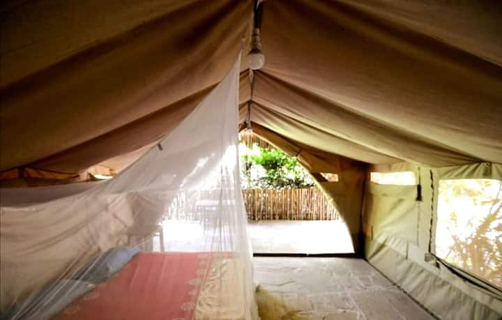luxury camping at Diani beach