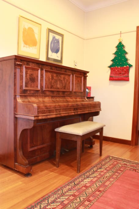 The piano & guitar are for use by guests
