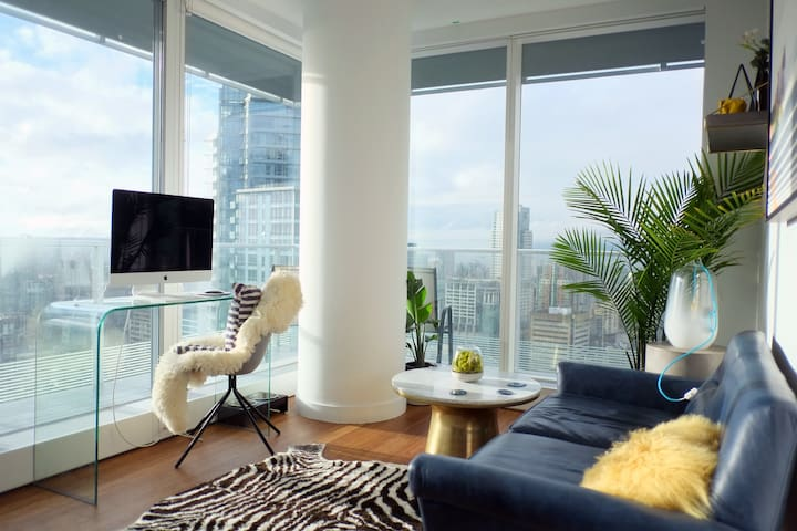 Modern New Private Room Downtown Water/Sunset View - Vancouver - Apartamento