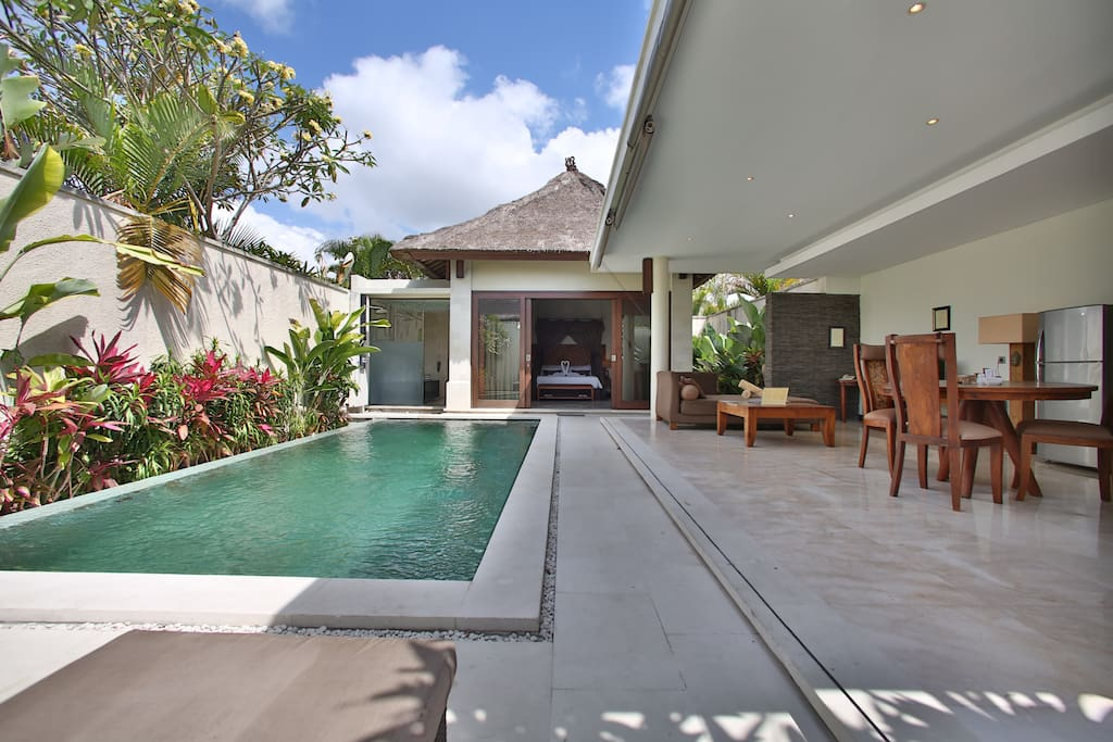 the spacious 1 bedroom villa with private pool