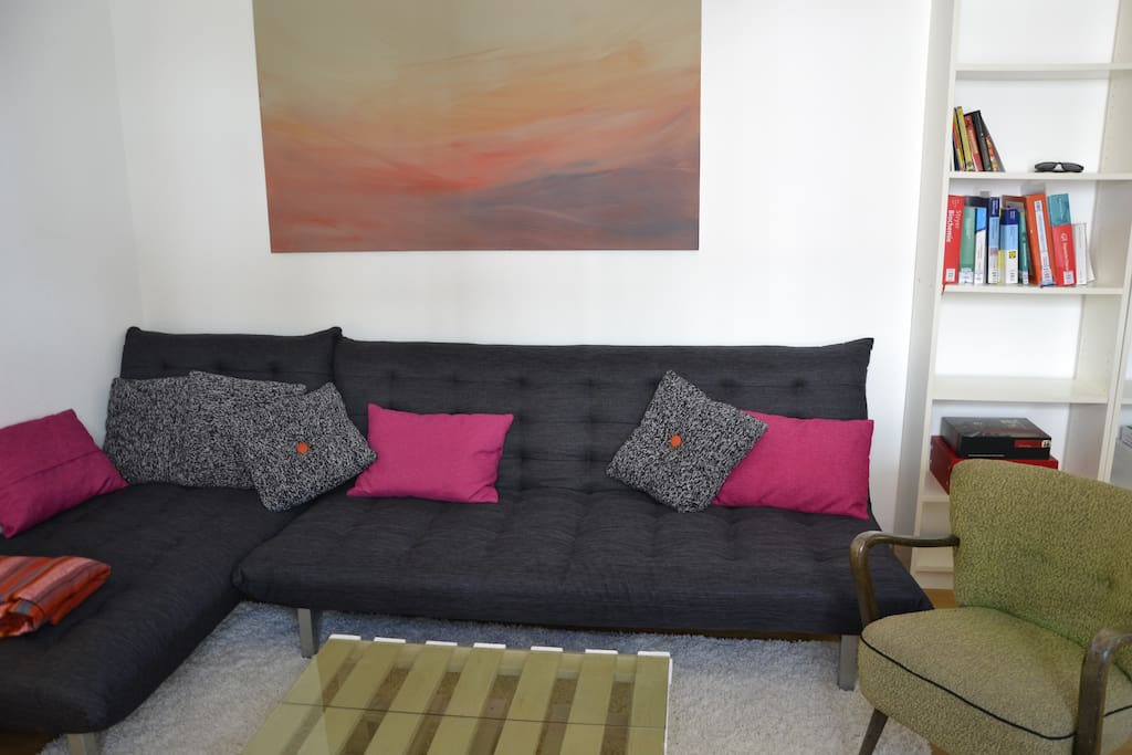 The living room and your temporary home