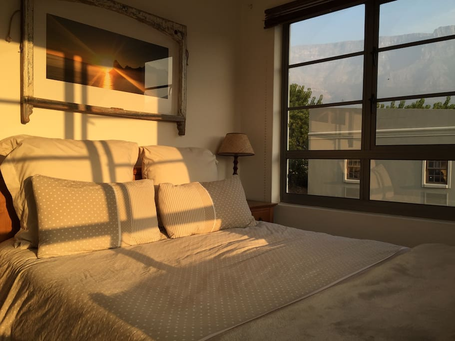 Views of the iconic Table Mountain from the main bedroom