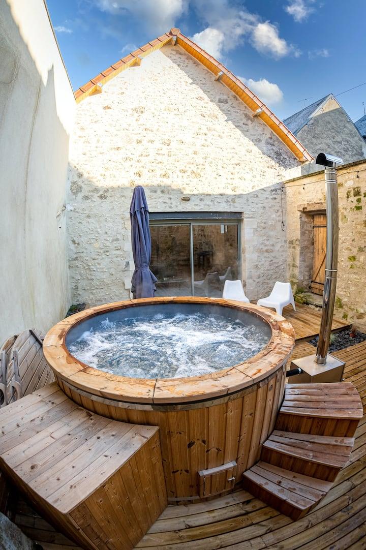 La Grange : Gite de charme avec spa, 7km de Laon