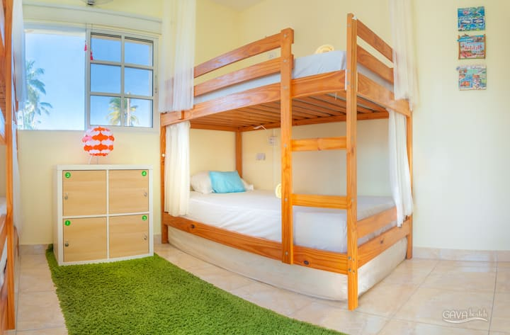 Single bed in mixed dormitory, сlose to the beach