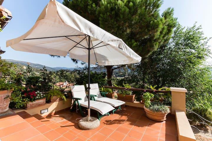 Splendida villetta panoramicissima - Chia - Řadový dům