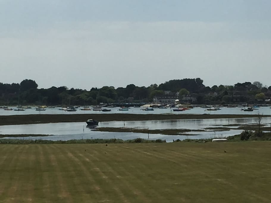 View from your bed across Chichester Harbour to Itchenor