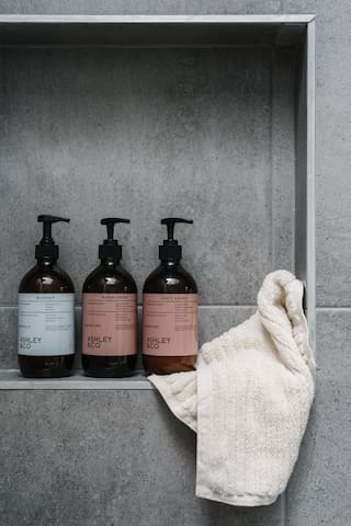 Indulge your senses with complimentary Ashley & Co shampoo, conditioner and body wash in the bathroom and all wash basins