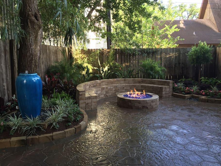 Newly remodeled backyard.