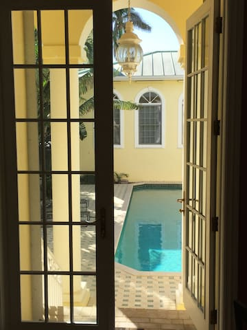 Entrance Overlooking Pool