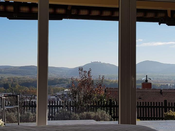 Blick über Krems mit Terrasse - Wohlfühlen