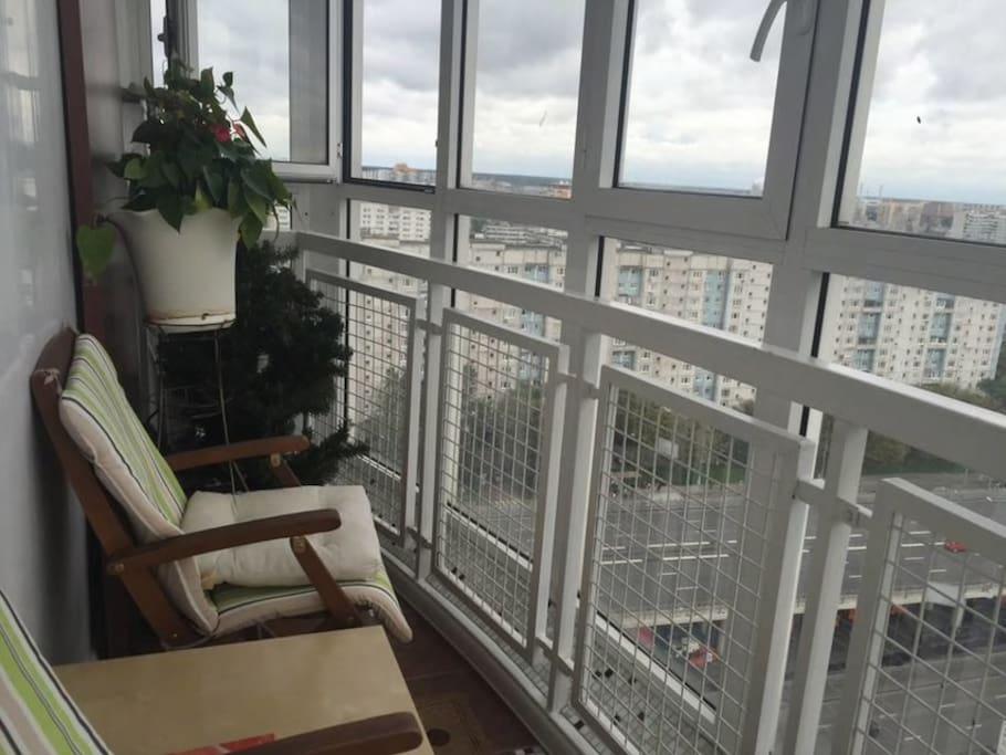 Панорамный балкон с видом на Лосиный остров
