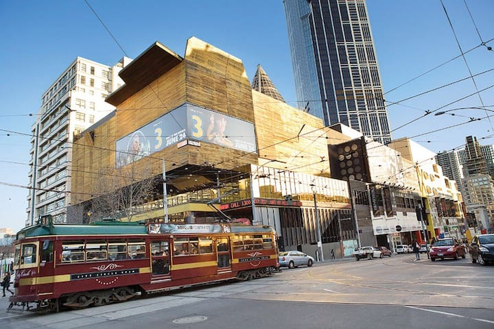 Melbourne Central is only three blocks away, or two tram stops away