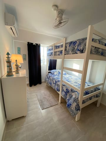 Beautiful Bedroom with 2 Twin Size Beds, Spacious Closet and Excellent A/C.  All this and more managed by:  My Place in D.R.