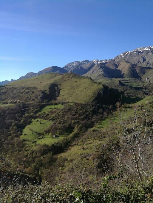 Vistas maravillosas a las montañas