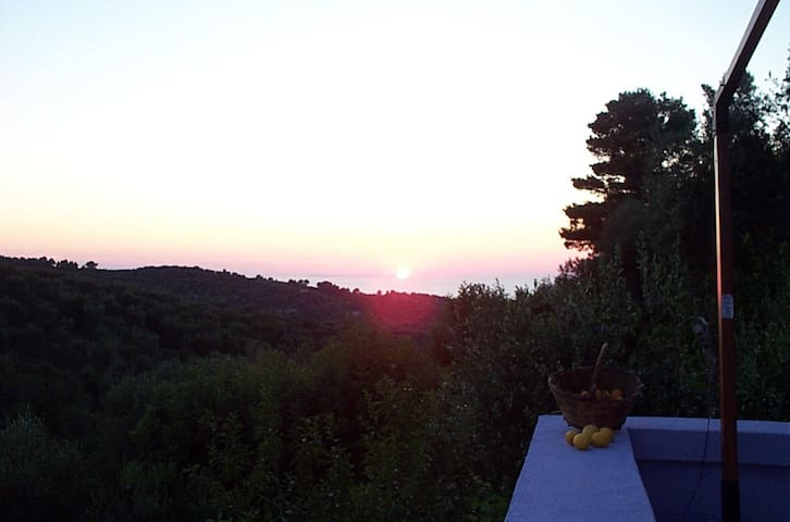 Face to the ..Wonder sea sunset - Vico del Gargano - House