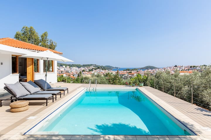 Skiathos Modern Villa with private swimming pool
