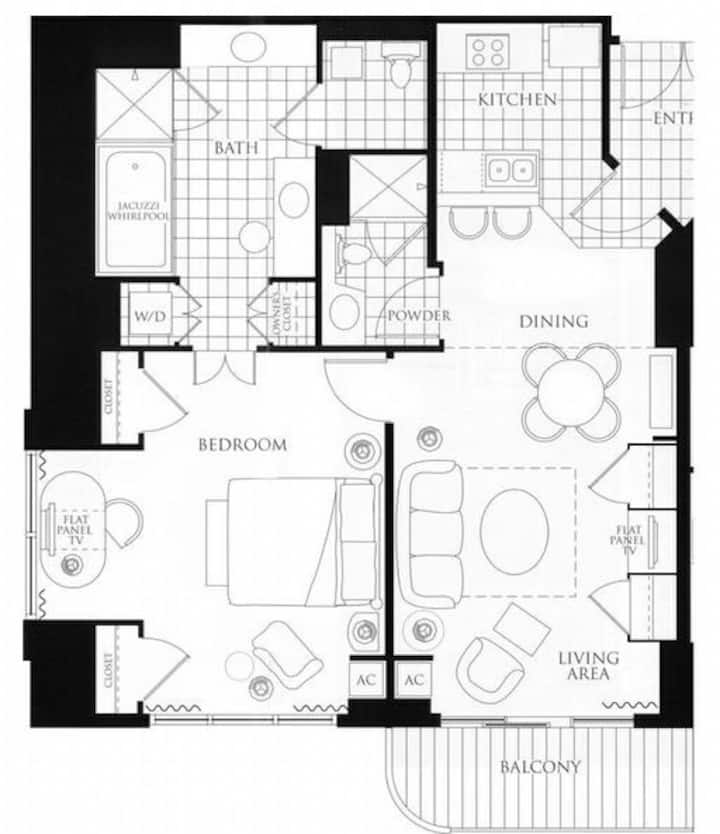 Mgm Signature One Bedroom Two Bath With Balcony Condominiums For Rent In Las Vegas Nevada United States