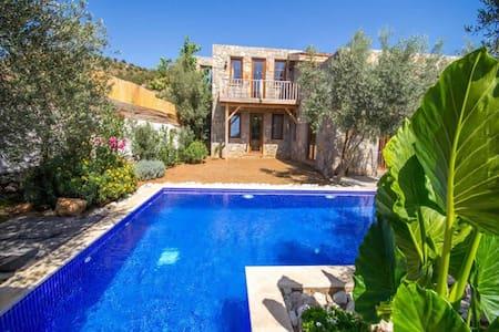 KAYA402- with private pool 2 bedroomed stone villa - Kayaköy