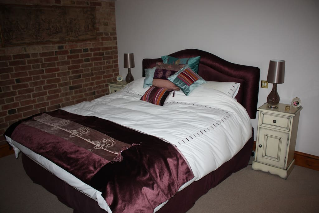 Double bedroom with TV plus tea and coffee facilities